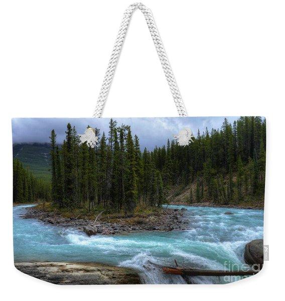 Sunwapta Falls Jasper National Park Alberta Canada Weekender Tote Bag