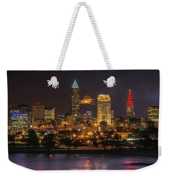 Super Moon 2016 Over Cleveland Weekender Tote Bag