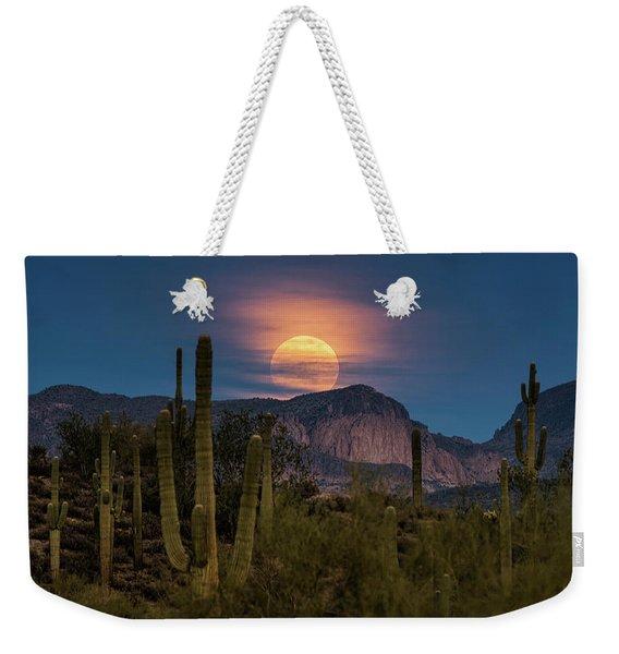 Super Moon 2018 - Wolf Moon  Weekender Tote Bag