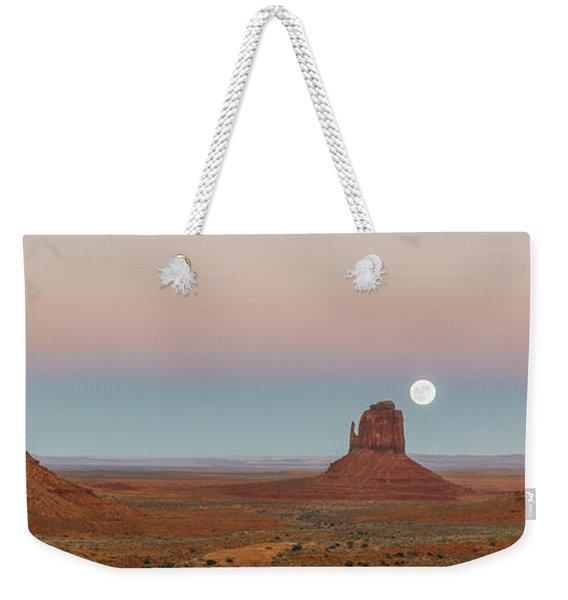 Super Moon In Monument Valley Weekender Tote Bag