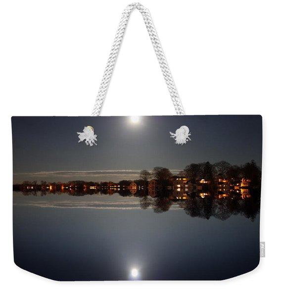 super moon night   Connecticut  Weekender Tote Bag