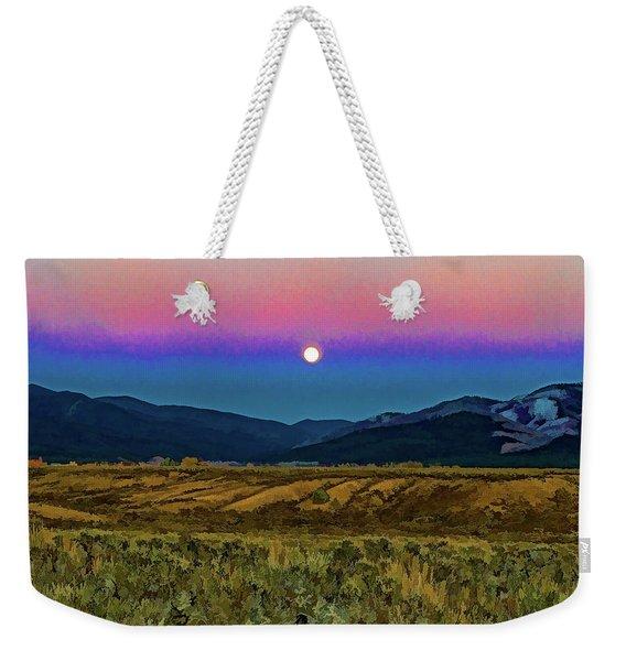 Super Moon Over Taos Weekender Tote Bag