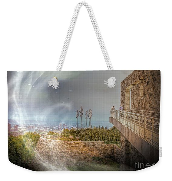 Super Natural Aliens Are Coming Getty Museum  Weekender Tote Bag