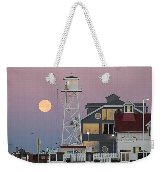 Super Wolf Moon At The Watch Tower Weekender Tote Bag