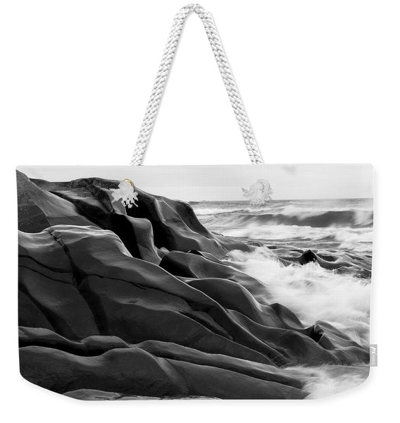 Weekender Tote Bag featuring the photograph Superior Edge        by Doug Gibbons