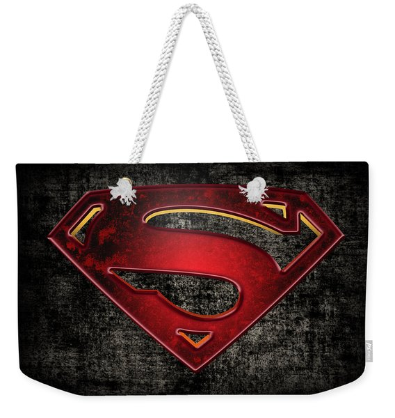 Superman Logo Digital Artwork Weekender Tote Bag