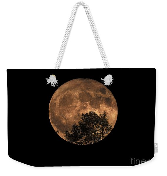 Supermoon Rising Weekender Tote Bag