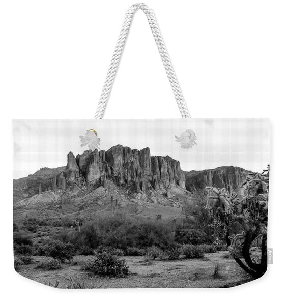 Superstition Mountain B/w Weekender Tote Bag