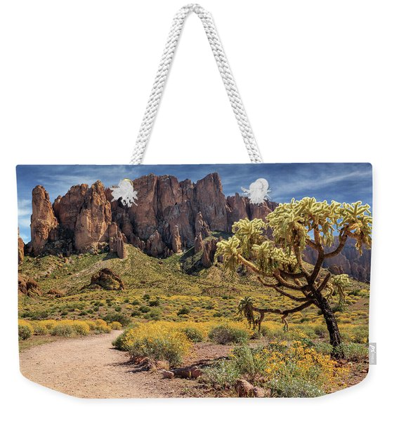 Superstition Mountain Cholla Weekender Tote Bag