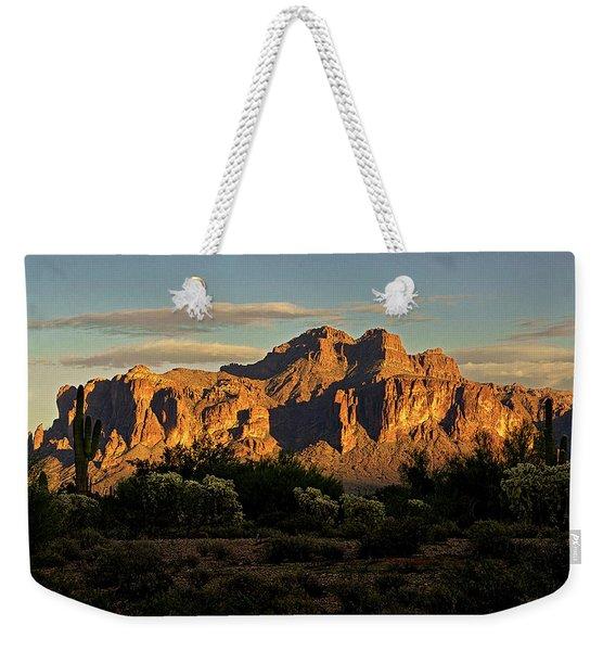 Superstitions At Sunset  Weekender Tote Bag