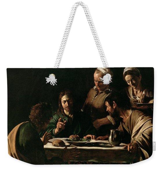 Supper At Emmaus Weekender Tote Bag