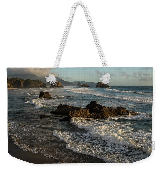 Surf At Crescent Beach Weekender Tote Bag