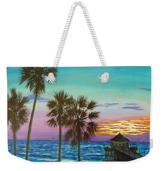Surf City Sunset Weekender Tote Bag