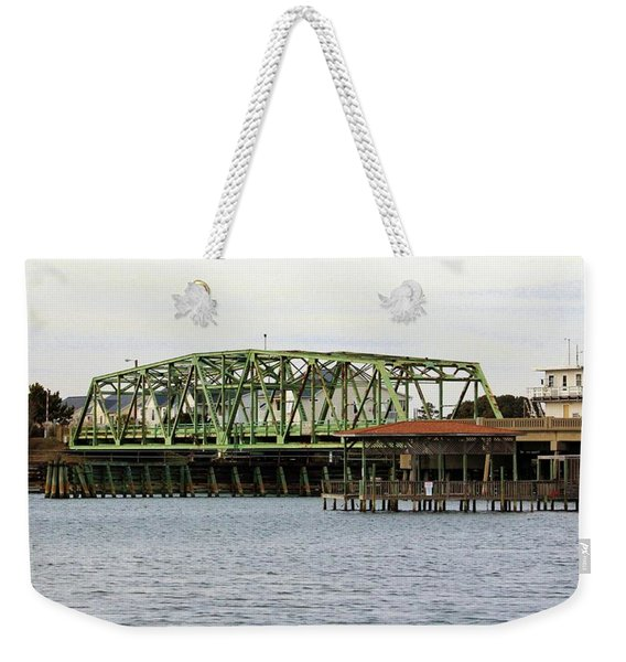 Surf City Swing Bridge Weekender Tote Bag