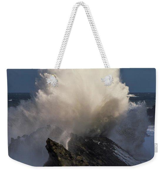 Surf Eruption Weekender Tote Bag
