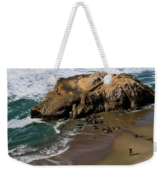 Surf Fishing At Ocean Beach Weekender Tote Bag