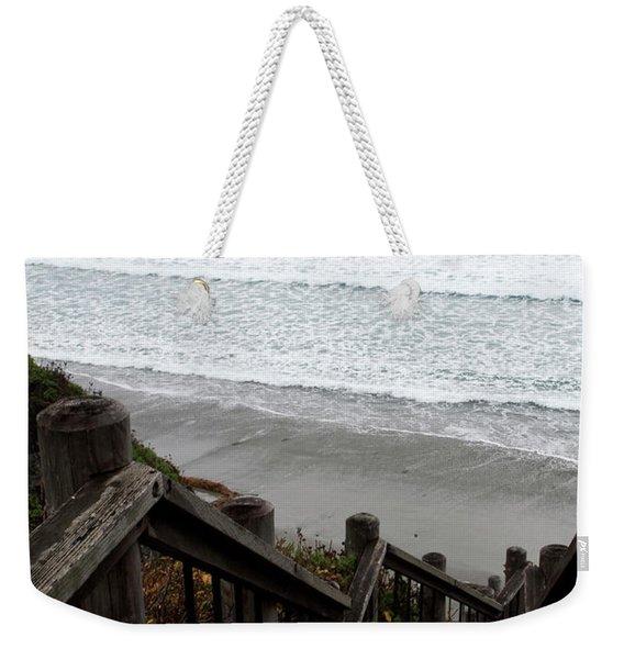 Weekender Tote Bag featuring the photograph Surf Stairway by Lorraine Devon Wilke