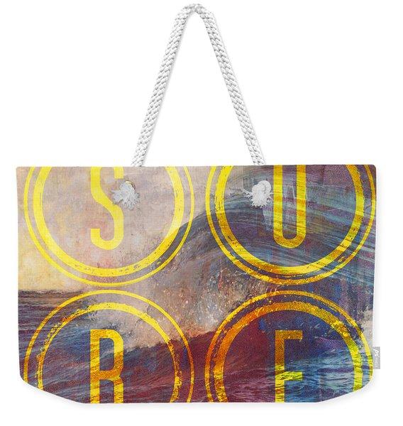 Surf V2 Weekender Tote Bag