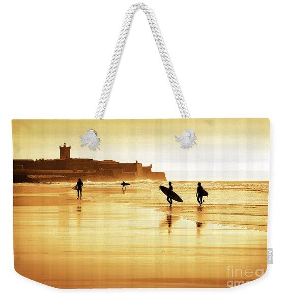 Surfers Silhouettes Weekender Tote Bag