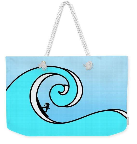 Surfing The Wave Weekender Tote Bag