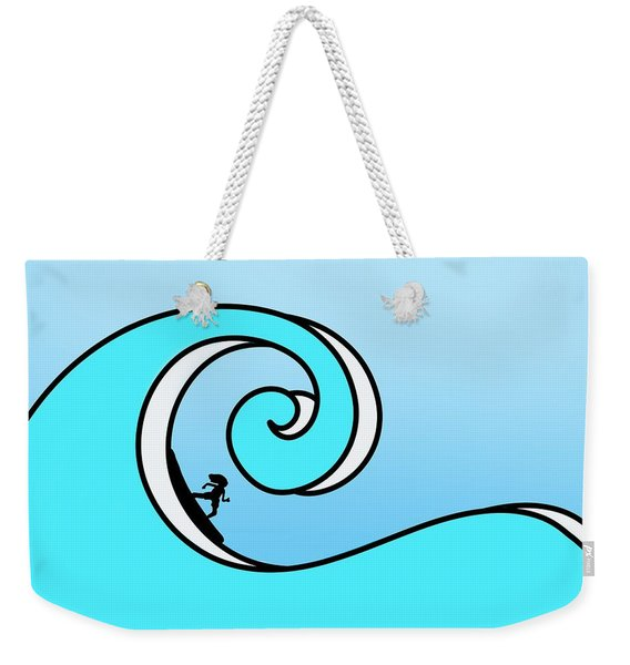 Surfing The Wave Weekender Tote Bag