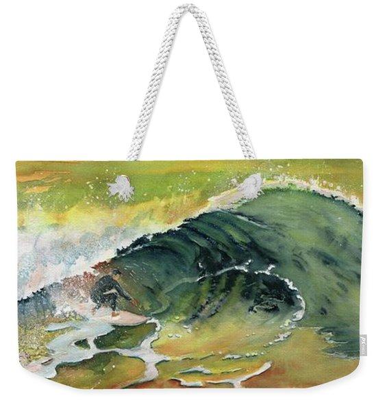 Surfing Watercolor Art Weekender Tote Bag