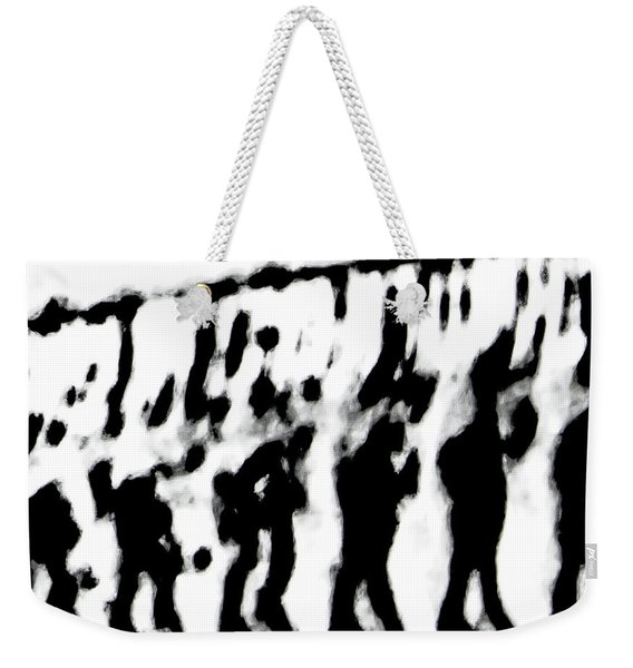 Surreal From Tire Tracks In Sand Weekender Tote Bag