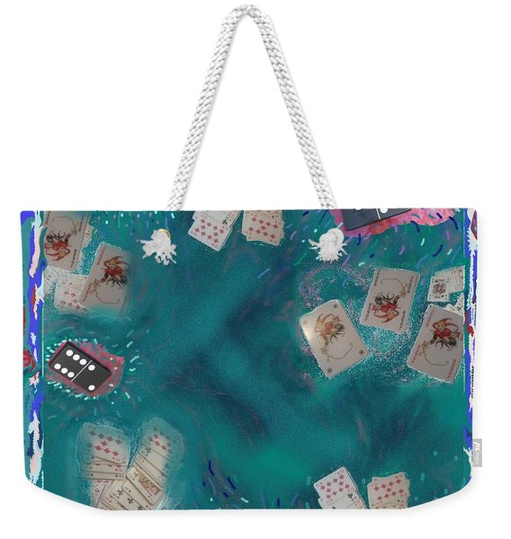 Surreal Lake Art And Poem Weekender Tote Bag