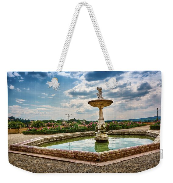 The Monkeys Fountain At The Gardens Of The Knight In Florence, Italy Weekender Tote Bag