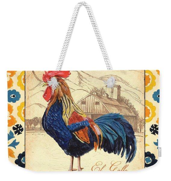 Suzani Rooster 1 Weekender Tote Bag