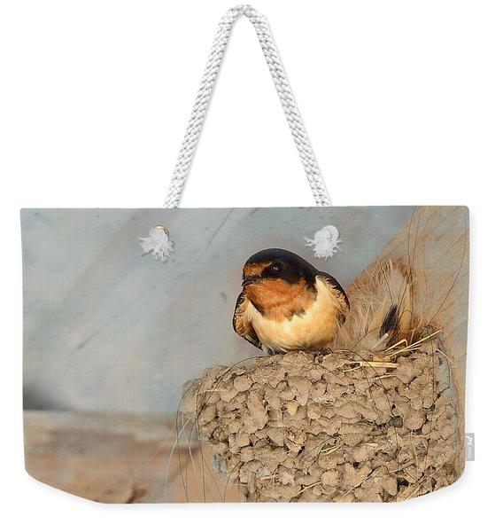 Swallow On Nest Weekender Tote Bag