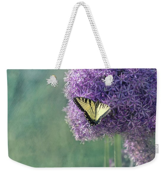 Swallowtail Butterfly In The Garden Weekender Tote Bag