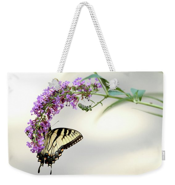 Swallowtail On Purple Flower Weekender Tote Bag