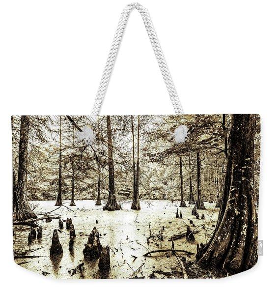 Swamp In Sepia Weekender Tote Bag