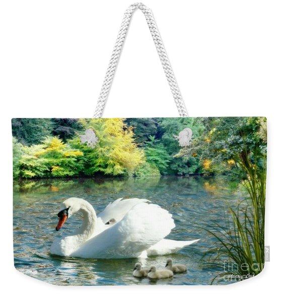 Swan And Cygnets Weekender Tote Bag