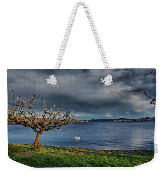 Swan And Tree Weekender Tote Bag