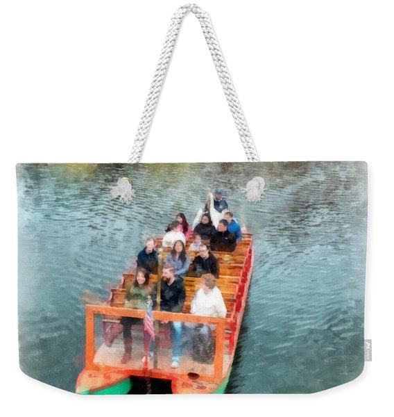 Swan Boats Boston Public Gardens Weekender Tote Bag