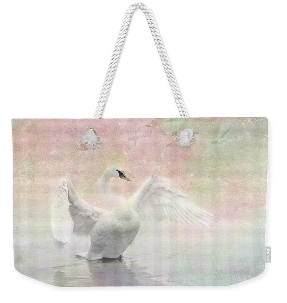 Swan Dream - Display Spring Pastel Colors Weekender Tote Bag
