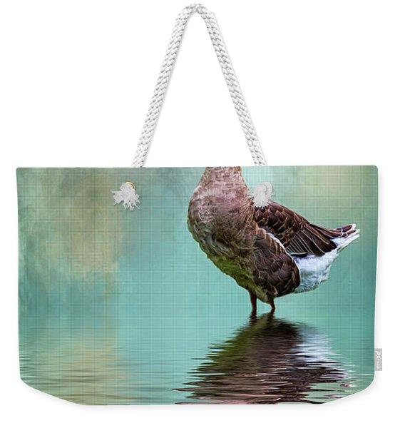 Swan Goose Weekender Tote Bag