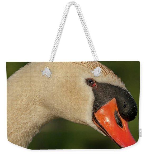 Swan Headshot Weekender Tote Bag