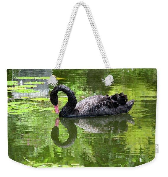 Swan Of Hearts Weekender Tote Bag
