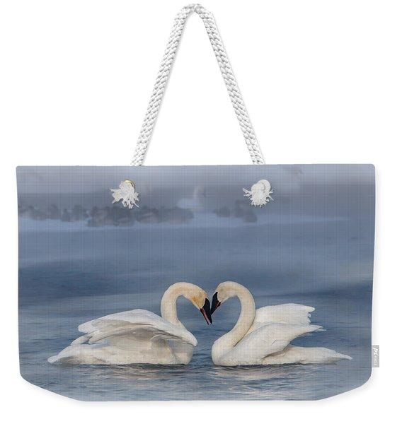 Swan Valentine - Blue Weekender Tote Bag