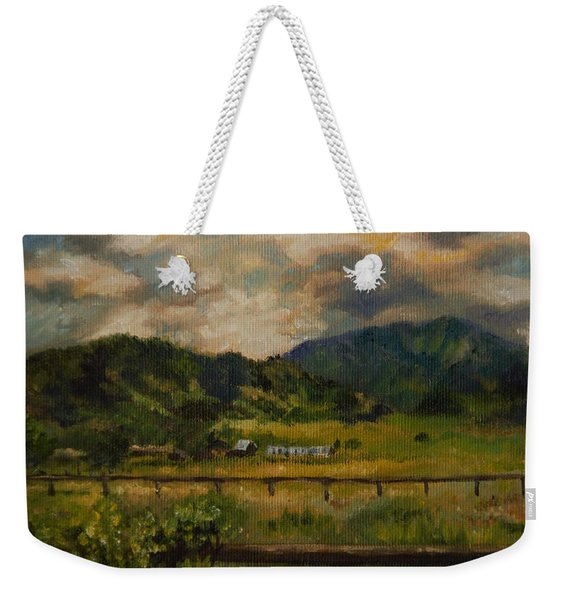 Swan Valley Hillside Weekender Tote Bag