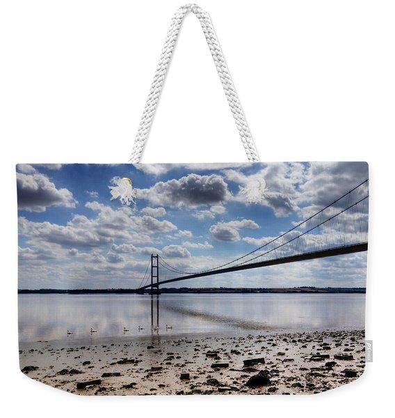 Swans At Humber Bridge Weekender Tote Bag
