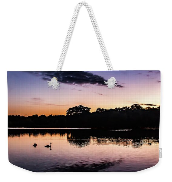 Swans At Sunrise Weekender Tote Bag