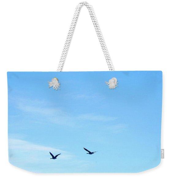 Swans Fly In Yellowstone Weekender Tote Bag