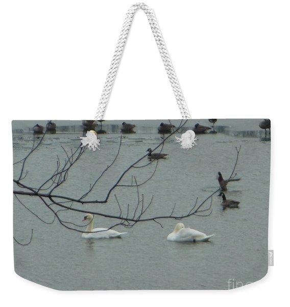Swans With Geese Weekender Tote Bag