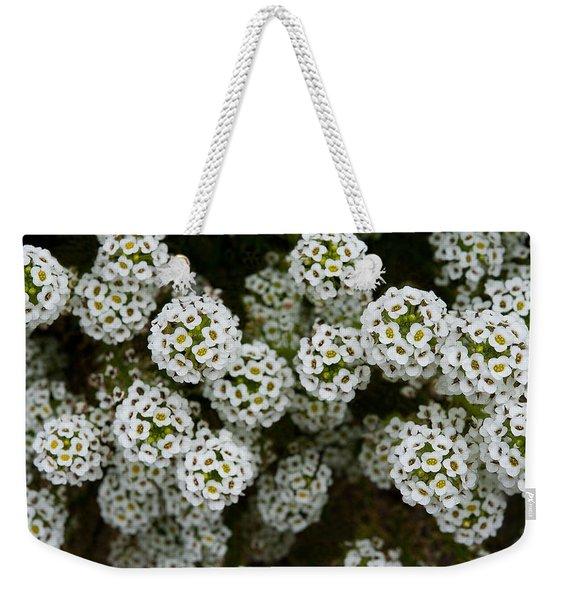 Sweet Alyssum Weekender Tote Bag