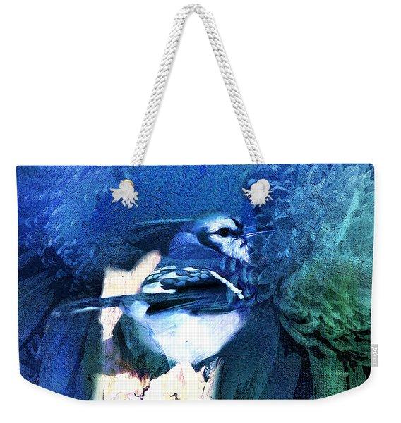 Sweet Blue Bird Weekender Tote Bag