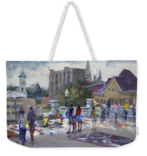 Sweet Chalk Festival In Lockport Weekender Tote Bag